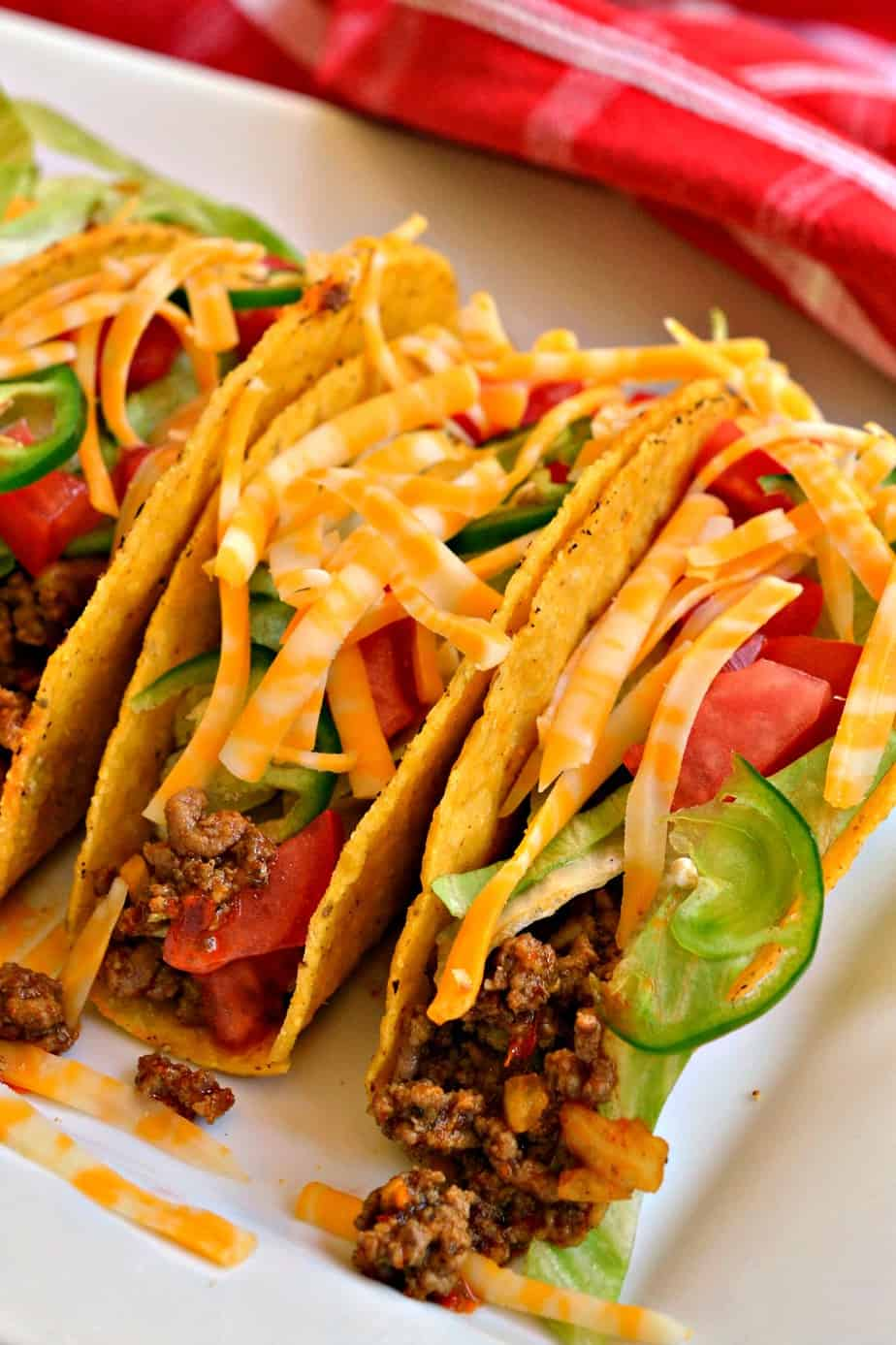 Top these Ground Beef Tacos with your choice of fixings and taco Tuesday has never been easier.