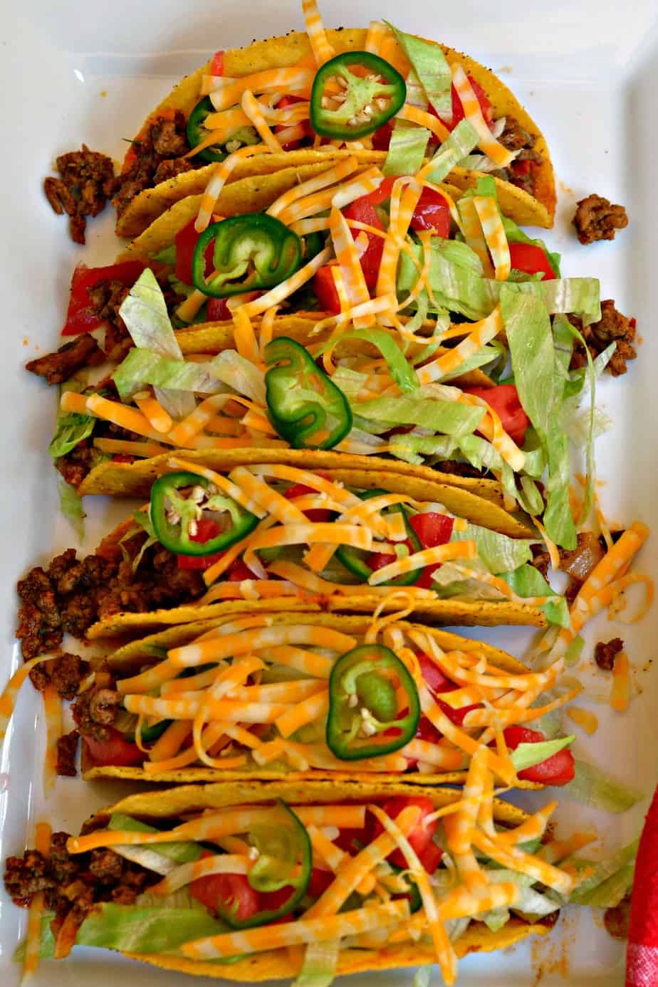 These delicious Ground Beef Tacos are made super easy with lean ground beef and a select handful of spices that you probably have on hand.