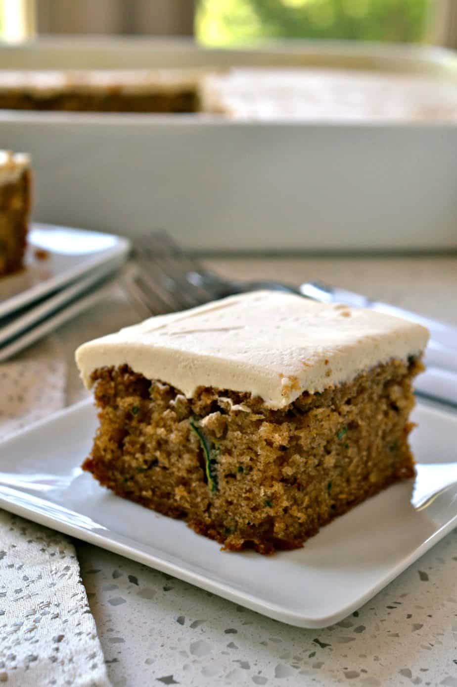 topped with an easy four ingredient brown sugar cream cheese frosting.