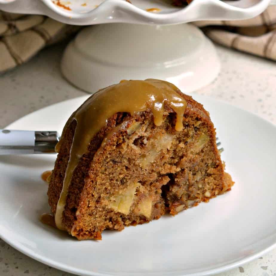 This Apple Cake is perfectly spiced with cinnamon, ground cloves and nutmeg.