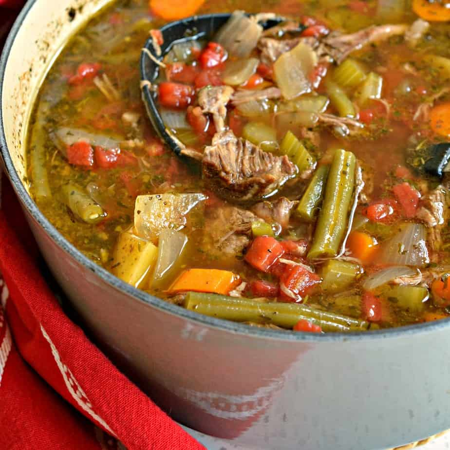 How to make a hearty and delicious Vegetable Beef Soup that is perfect for Fall