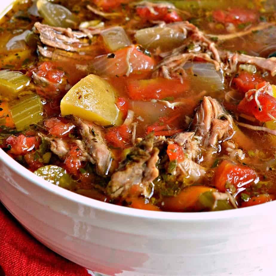 A hearty wholesome vegetable beef soup that you can feel good about feeding your family.