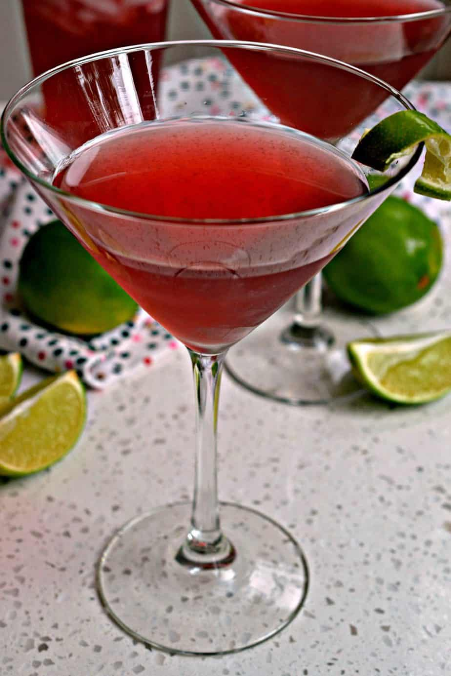 With just a handful of ingredients you too can partake of this delectable Cosmopolitan Drink.