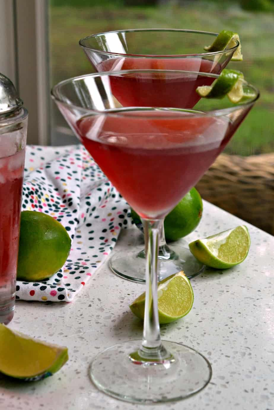 This gorgeous and tasty Cosmopolitan Drink is one of my favorite cocktails.
