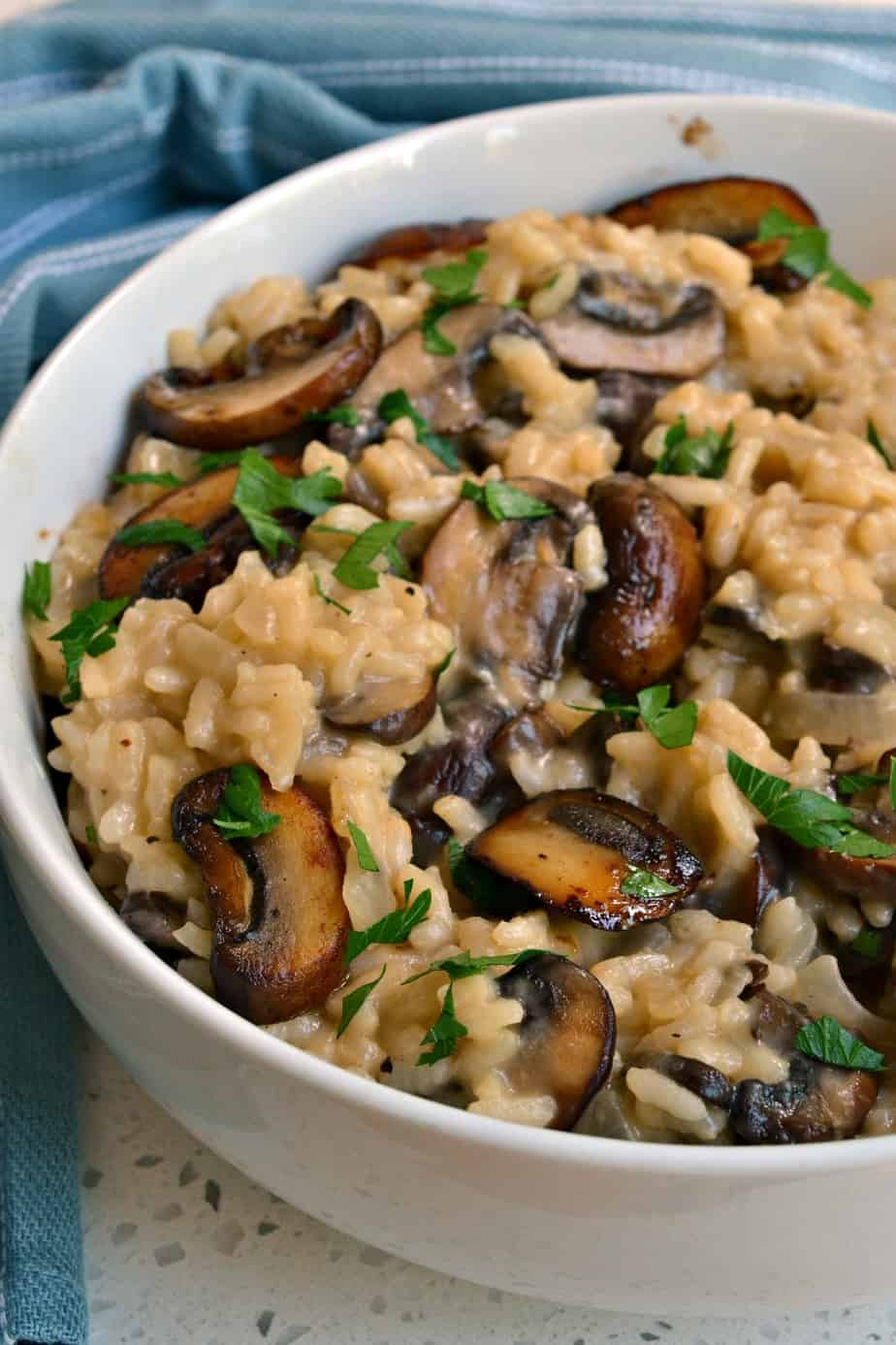 You are going to love the creaminess of this easy to make mushroom risotto.