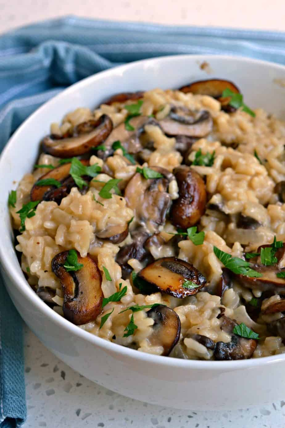 Cook this creamy and luscious Mushroom Risotto made just a like a five star restaurant.