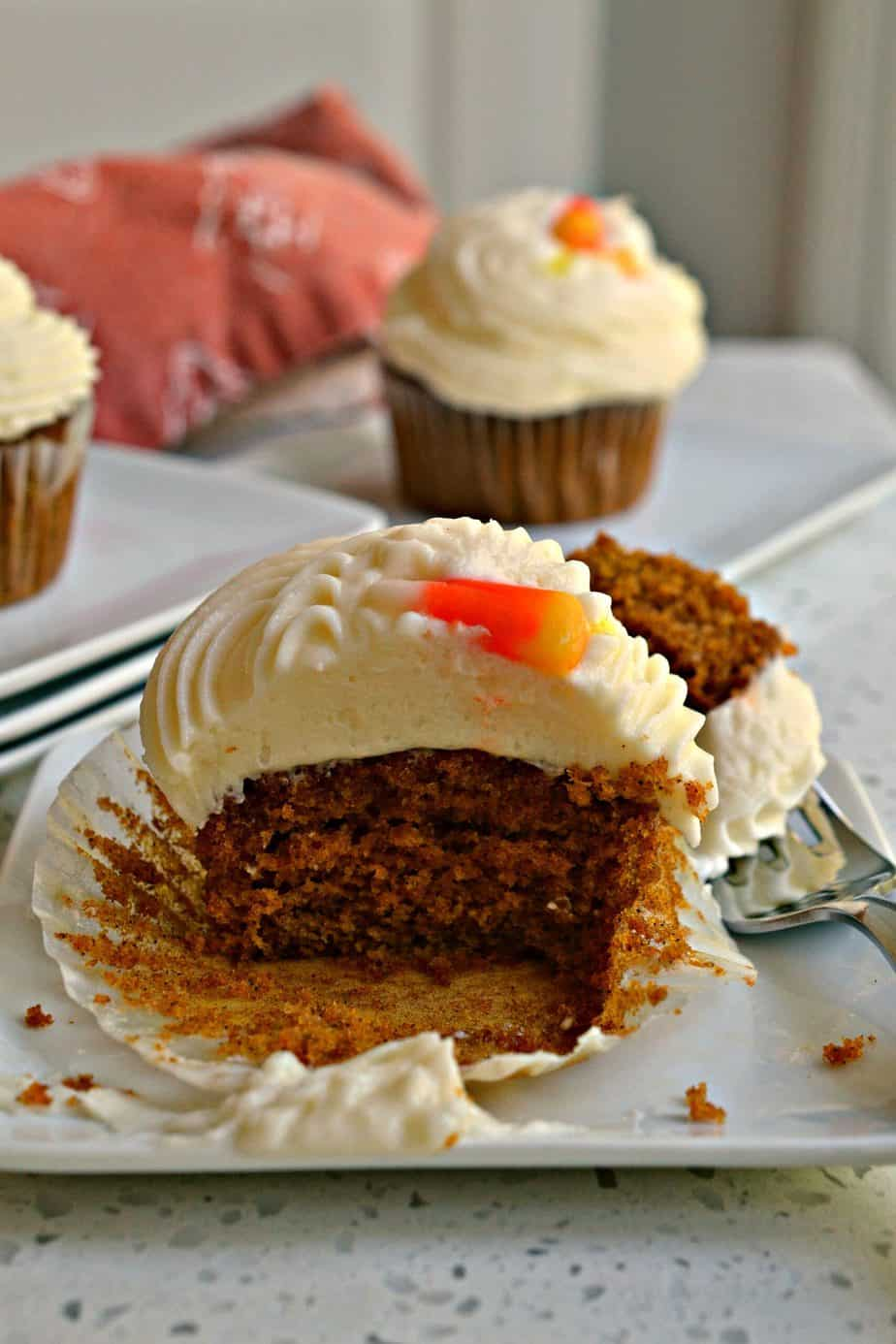 Make a batch of these easy Pumpkin Cupcakes for your family today.