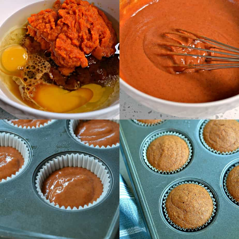 How to make Pumpkin Cupcakes from start to finish, including a homemade cream cheese icing!