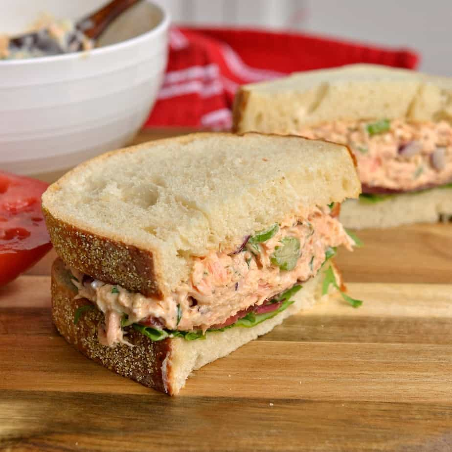 This creamy Salmon Salad is so good that you will wonder where it has been your whole life.
