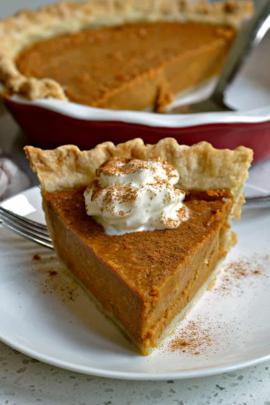 This Sweet Potato Pie is always a welcome fall tradition with a tender flaky crust and the perfect balance of autumn spices.