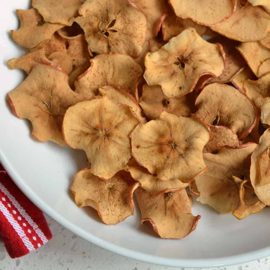 Apple Chips are perfect for apple picking and kids just love to munch on them!