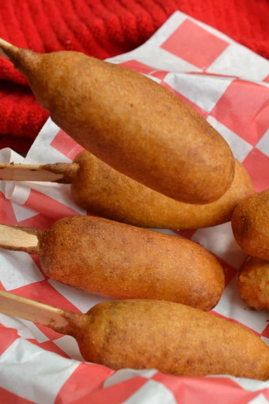 These homemade Mini Corn Dogs are so incredibly easy to make with just a little more than a handful of ingredients.