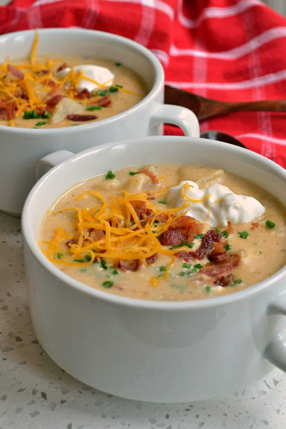 Loaded Potato Soup is a favorite in our house and a frequent request from my son.