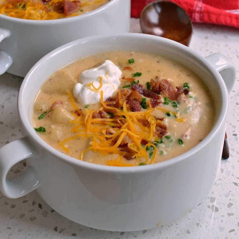 This Loaded Potato Soup is the ultimate comfort food and soup recipe.