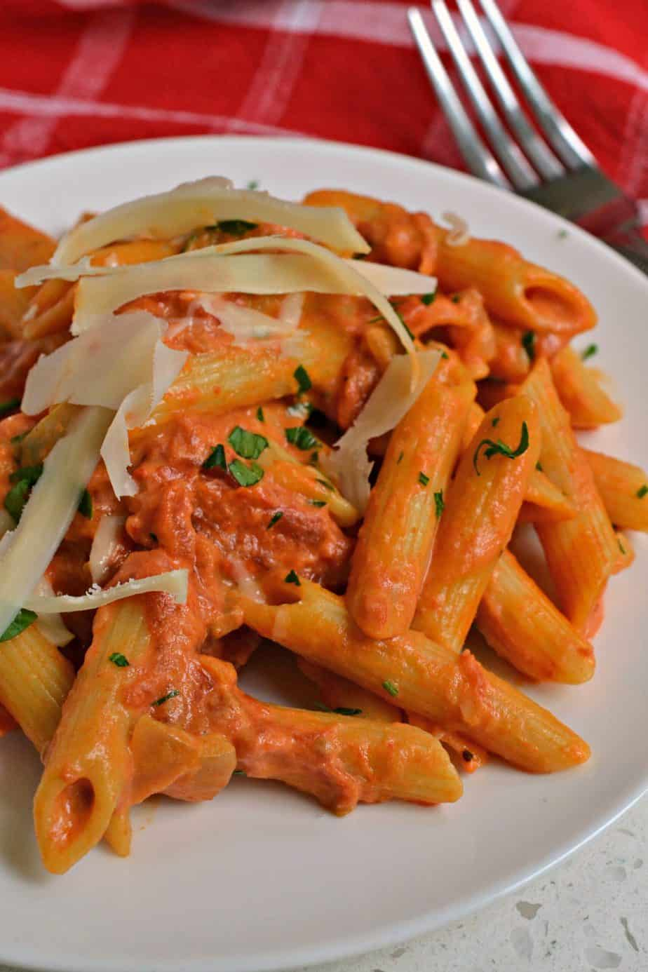 Penne alla Vodka is one of our favorite pasta dishes and you will be pleasantly surprised how well it all comes together.