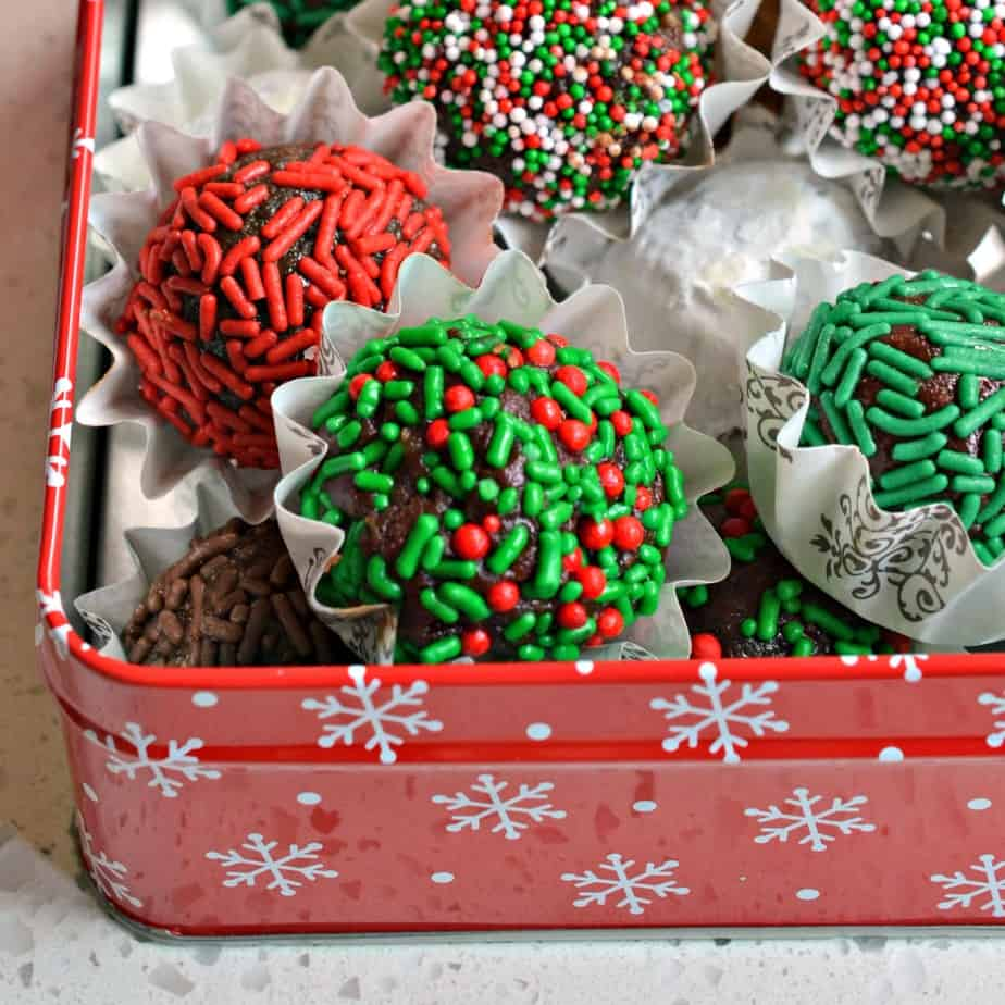 These fun and festive Rum Balls are quick to come together, taste delicious and perfect for any special occasion or holiday.