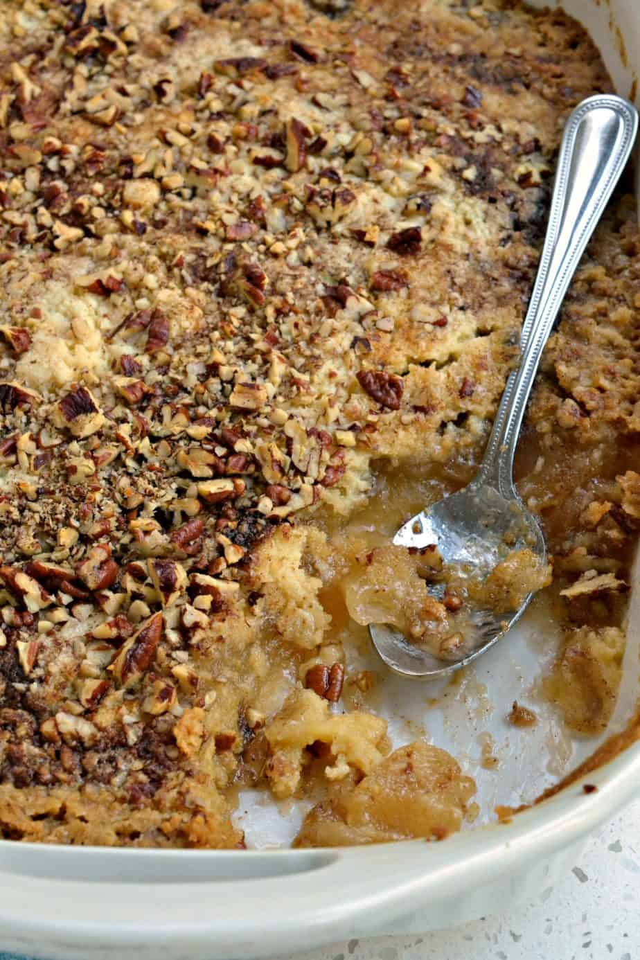 This super quick and easy scrumptious Apple Dump Cake is sure to please all of the apple lovers in your life.