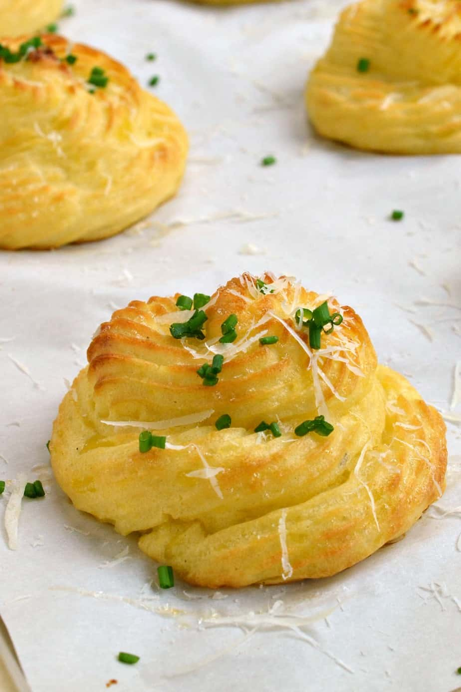 Duchess Potatoes are perfect for small dinner parties yet easy enough for a weeknight meal.