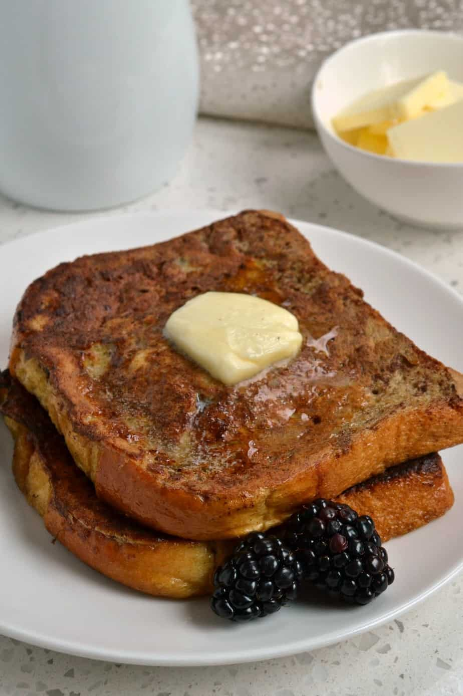 This family favorite French Toast recipe comes together in less than fifteen minutes making it the ideal comfort breakfast.