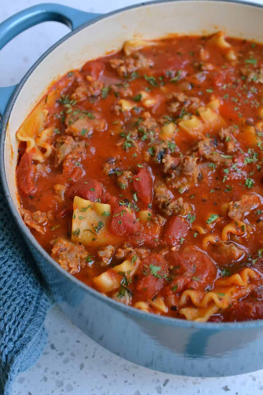 How to make Lasagna Soup