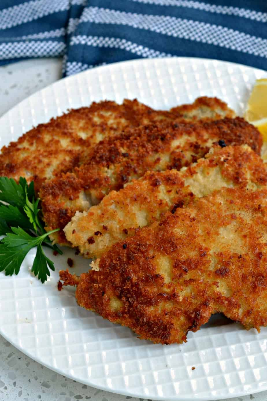 Crispy Pork Schnitzel is a family favorite and even loved by my picky eaters.