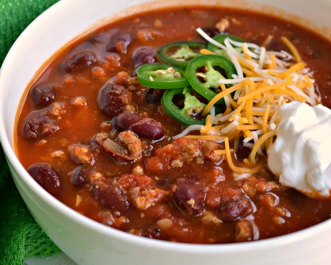 The Best Ground Turkey Chili Thick Robust And Hearty