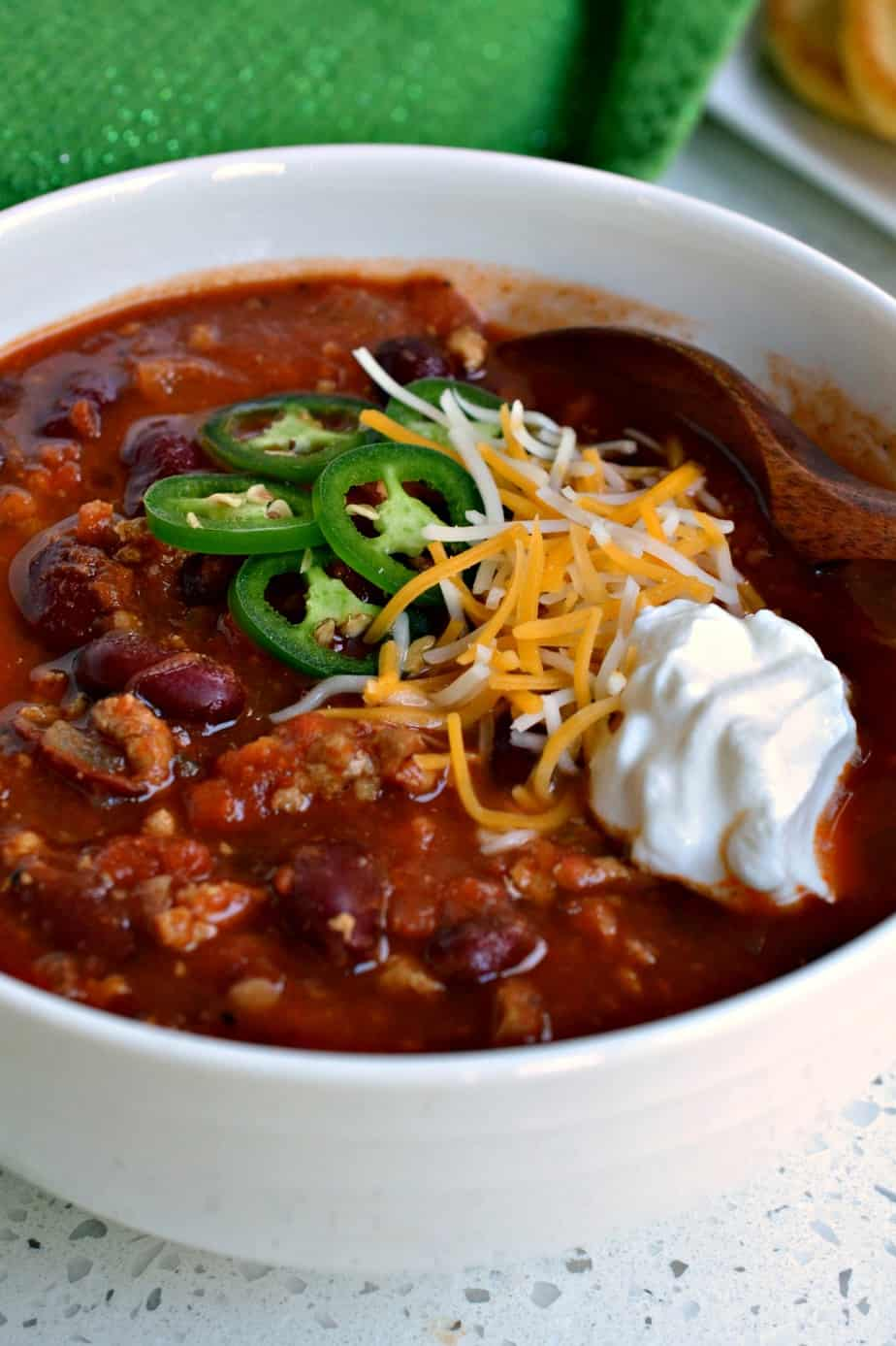 Make a big hot pot of Turkey Chili today and get ready to hear the accolades.