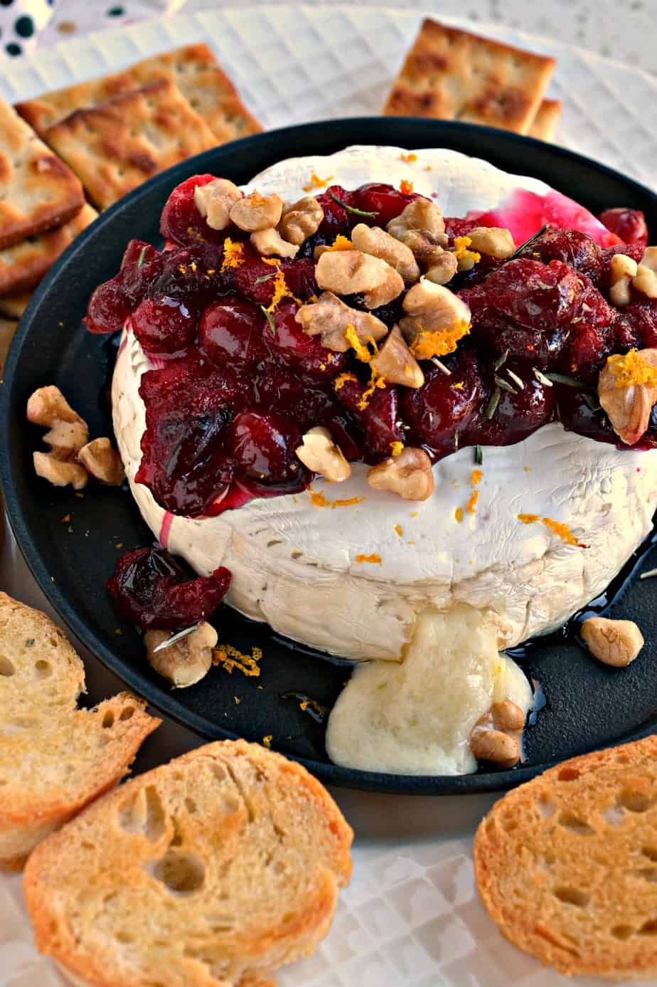 Never in the history of appetizers has there been a more elegant or easier recipe than this Baked Brie with cranberries.