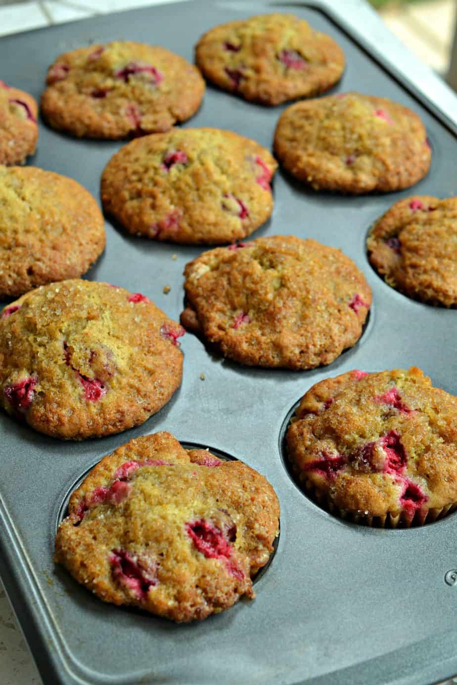 Gorgeous Cranberry Orange Muffins are bursting with the flavors of fresh cranberries, fresh orange juice and orange zest.