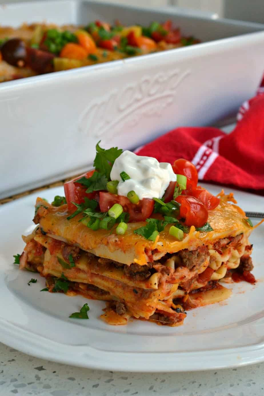 From the onions, garlic and seasoned beef to the layers of melted Mexican cheese this recipe is bursting with flavor.