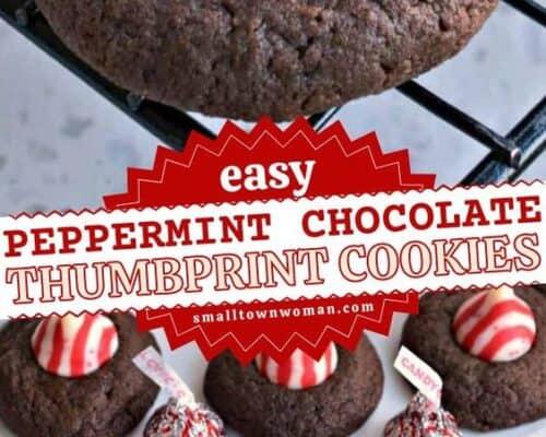 Peppermint Chocolate Thumbprints
