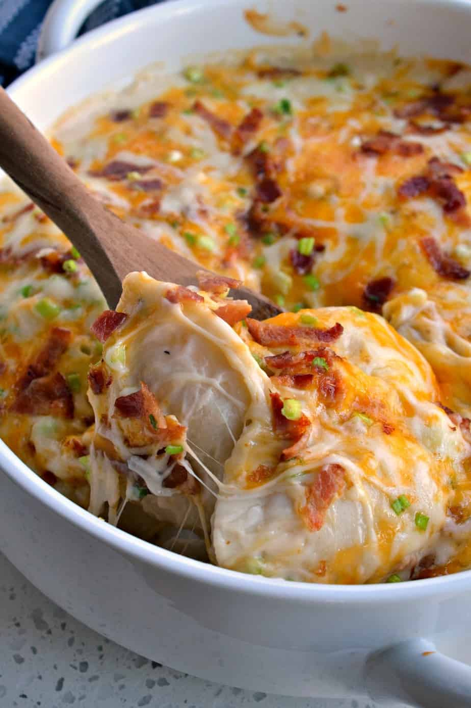 Just honest to goodness complements and requests for seconds.on this Pierogi Casserole.