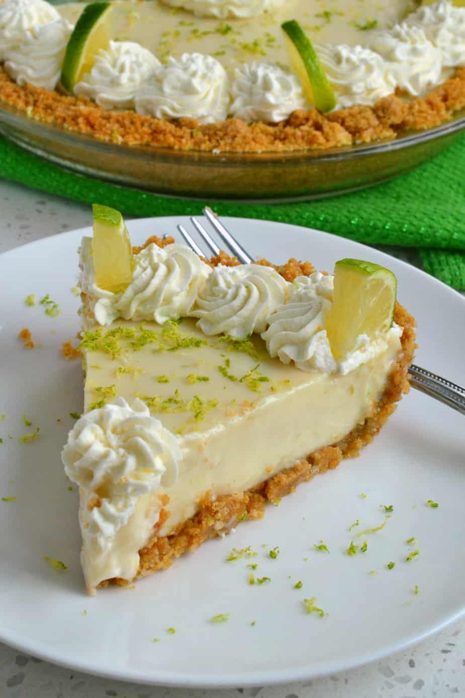 This homemade key lime pie is the perfect combination of tart and sweet from key limes, and creaminess from sour cream.