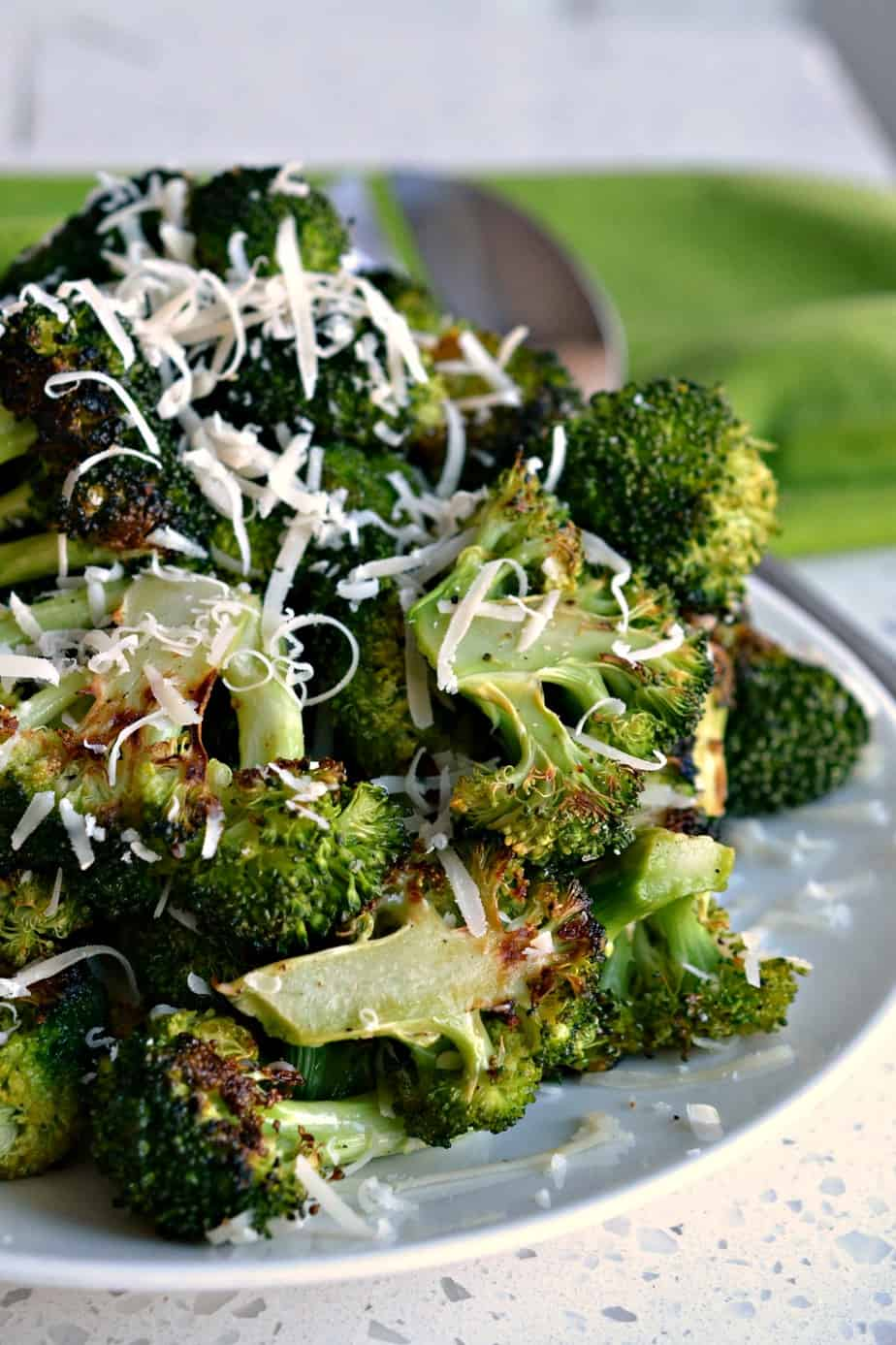 With just six ingredients this Oven Roasted Broccoli with lemon and Parmesan will become one of your favorite sides.