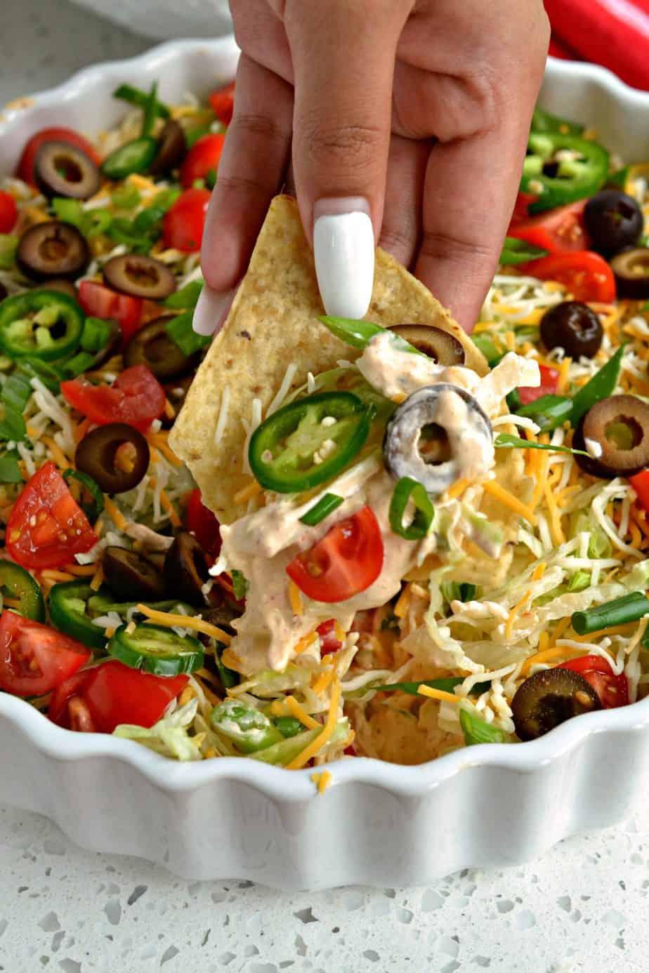 Wie man Taco Dip macht
