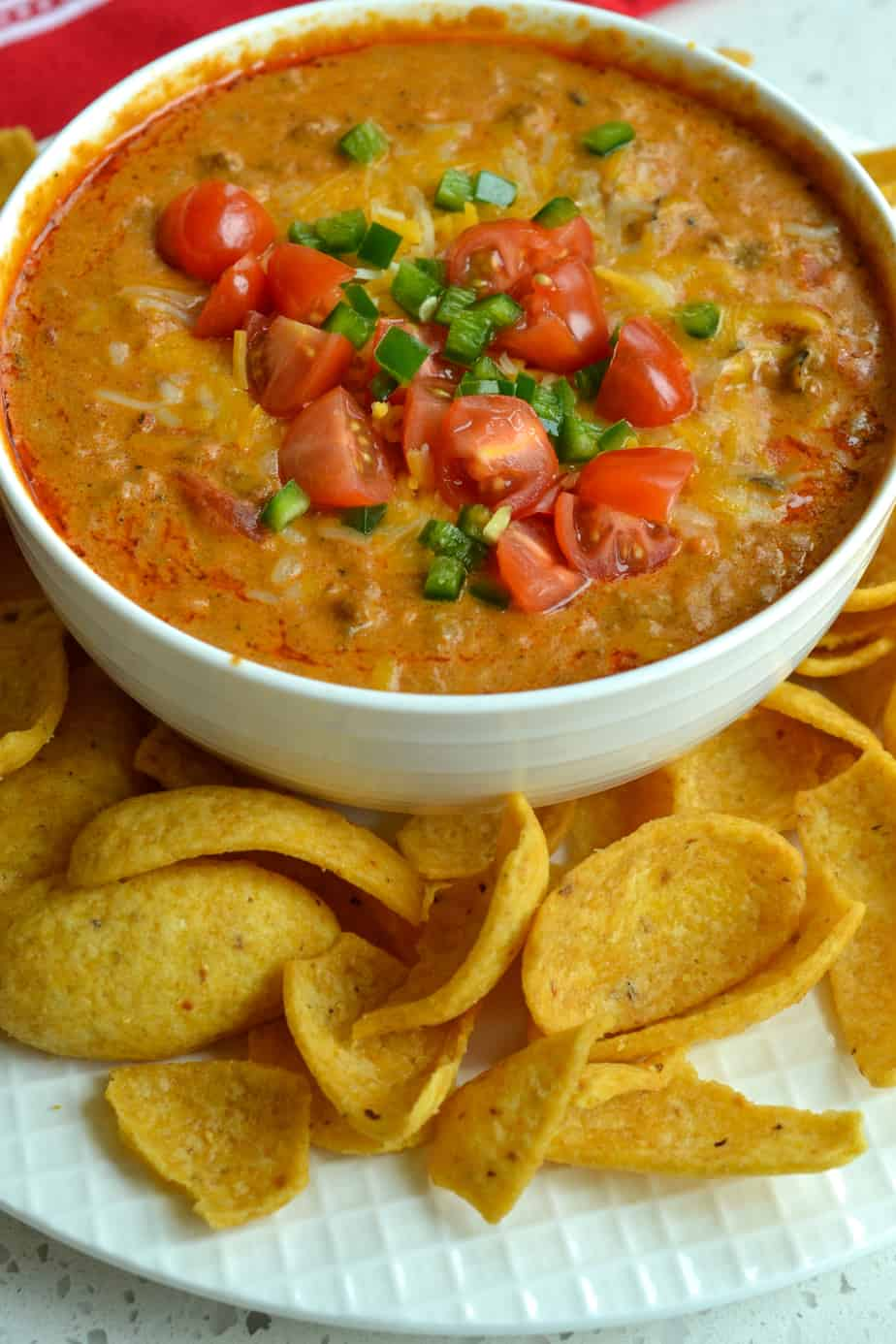 Chili Cheese Dip takes less than 15 minutes to make and it is always a game day hit with friends and family.