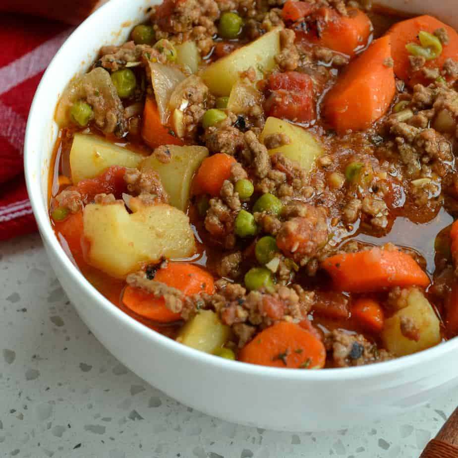 Hamburger Stew is full of natures wholesome goodness and a hearty satisfying meal that the whole family can enjoy.