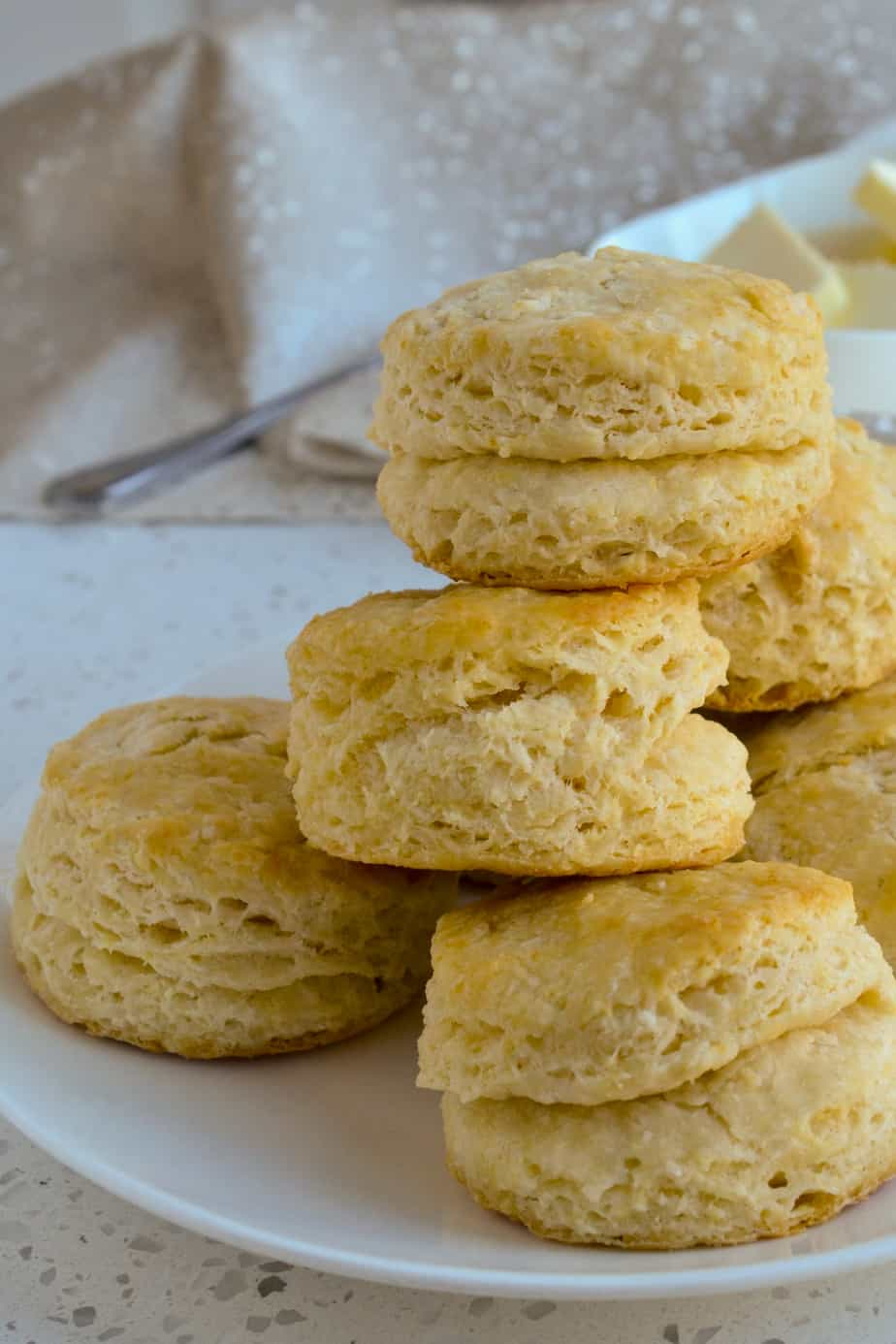 These flaky buttery Homemade Biscuits are pure comfort food to enjoy with sausage gravy, fresh jam, stews, and soups