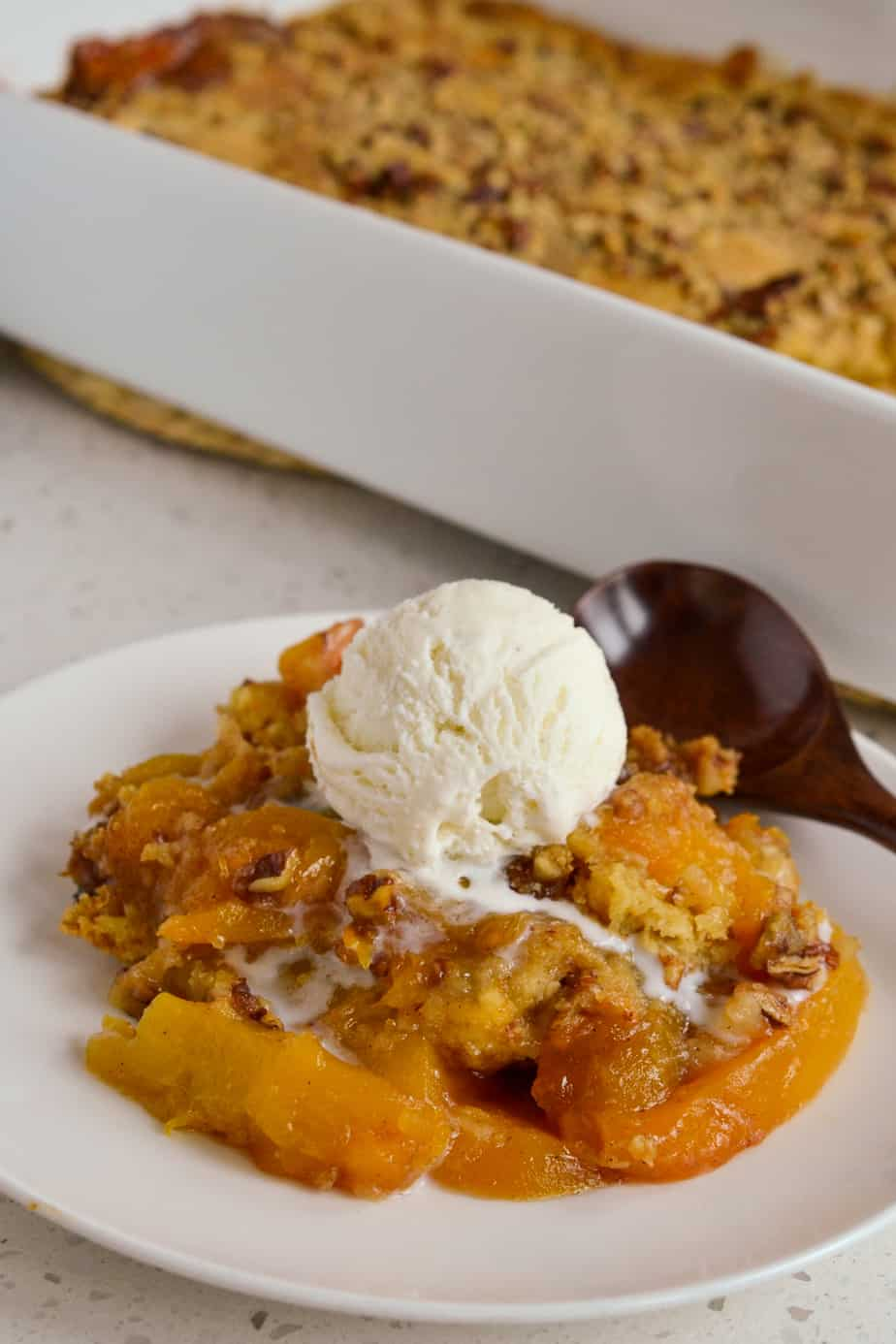 This Peach Dump Cake is made with fresh or frozen peaches giving it spectacular flavor and texture.