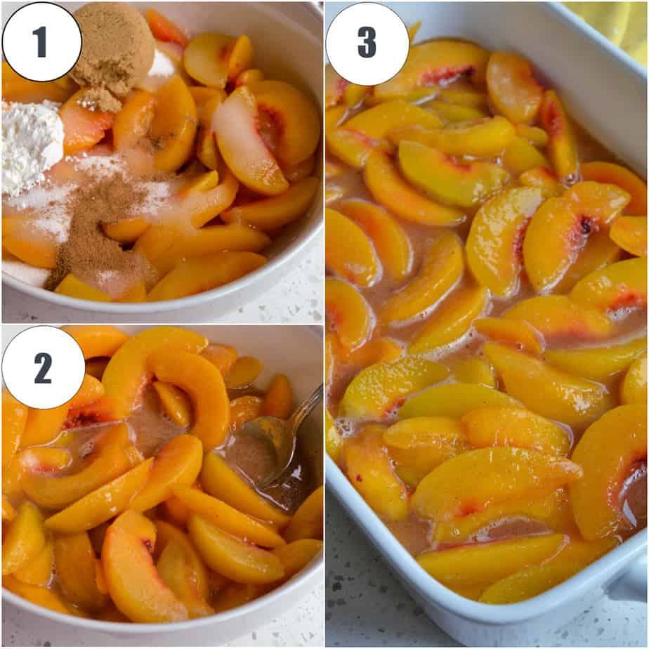 How to make a Peach Dump Cake