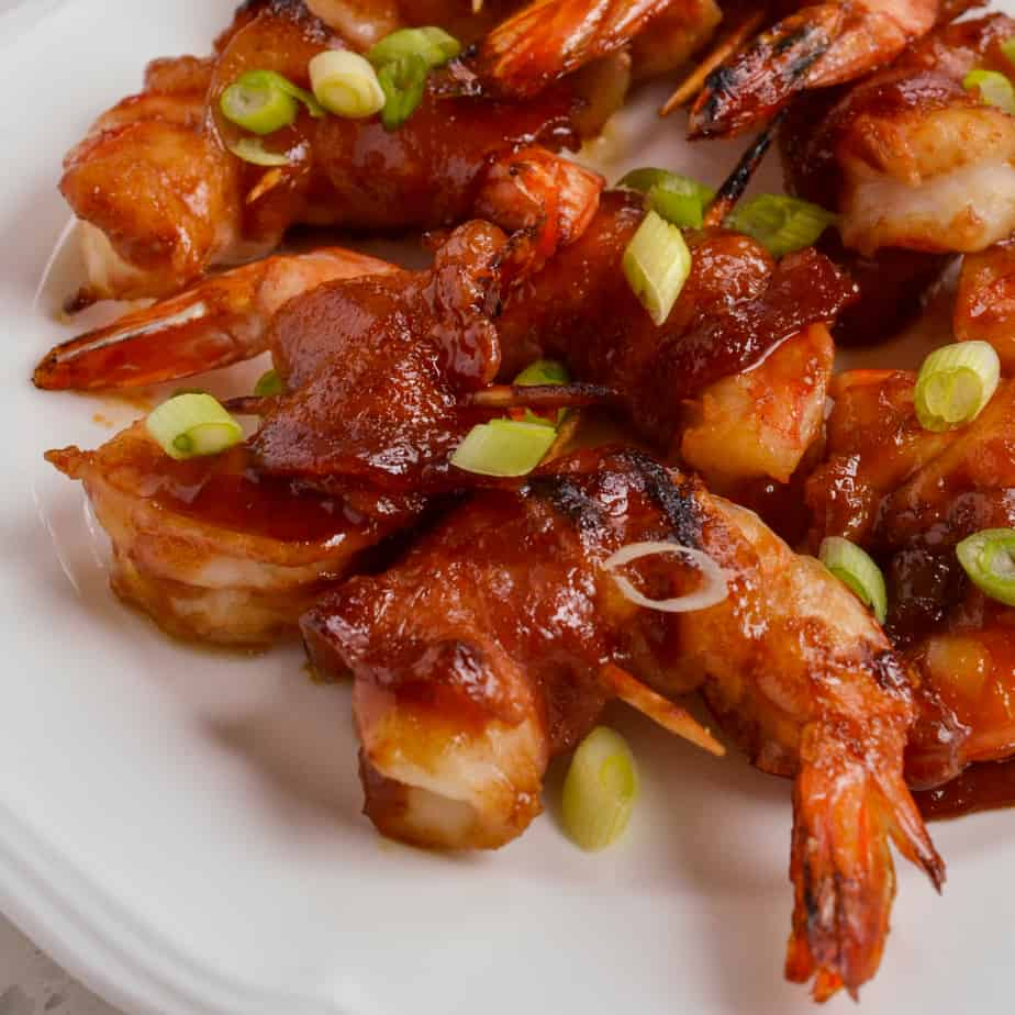 Bacon wrapped shrimp are always a hit with friends and family.