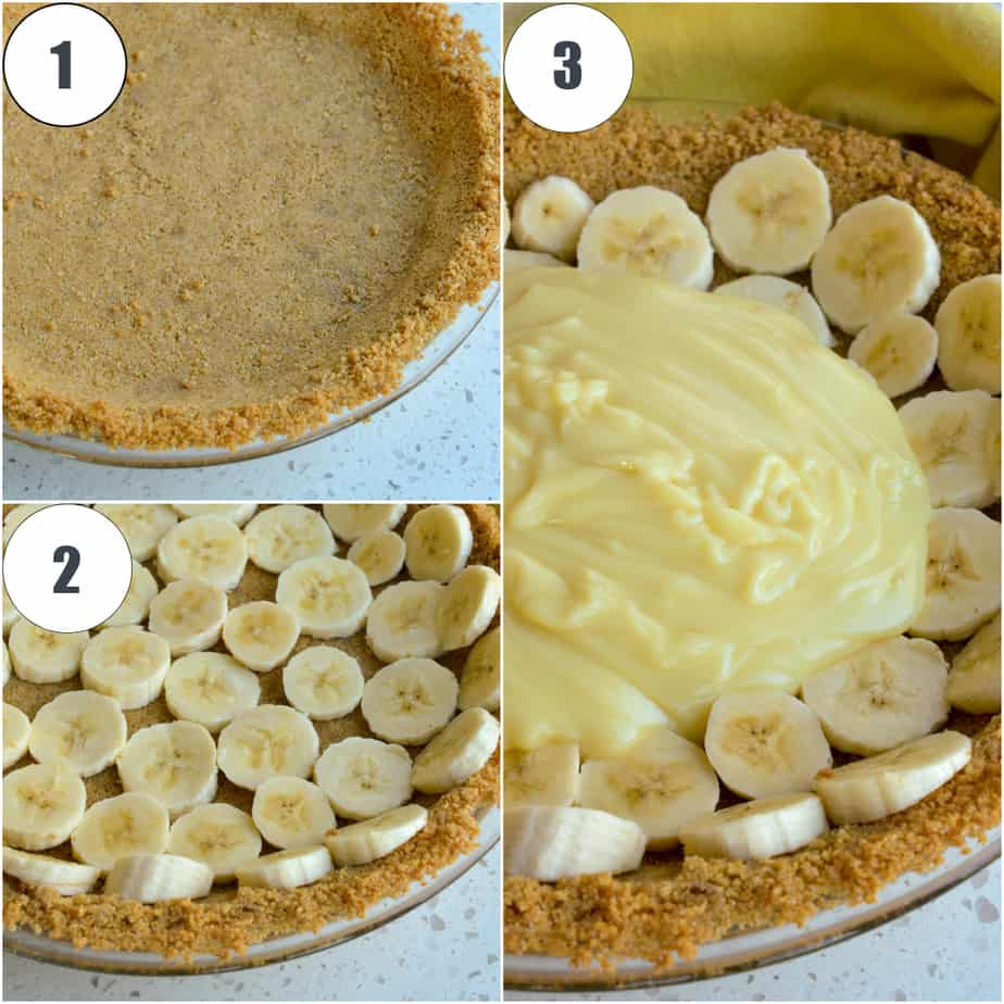 Layering a banana pie is so easy.