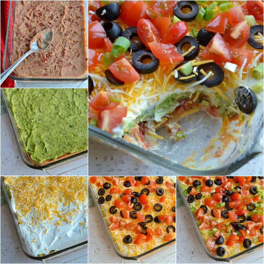 7 layer dip has seven delicious and easy layers.