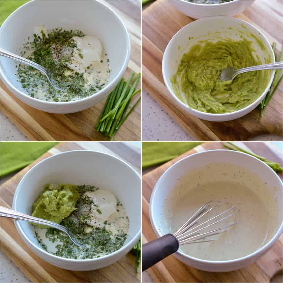 The steps to making avocado ranch dressing are easy.