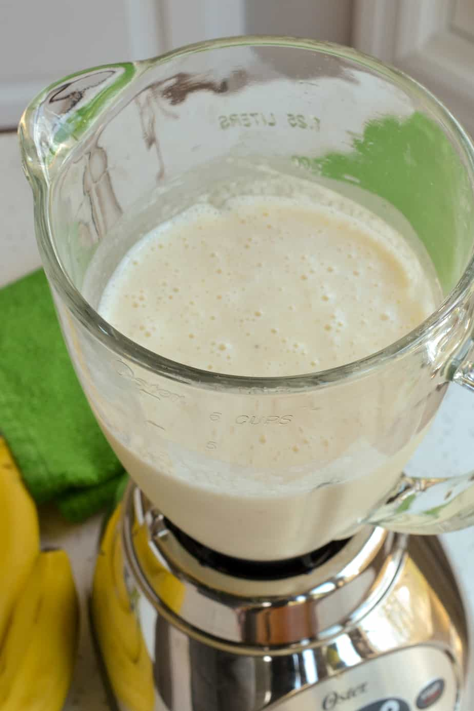 The frozen banana cocktails are made easy in a blender.