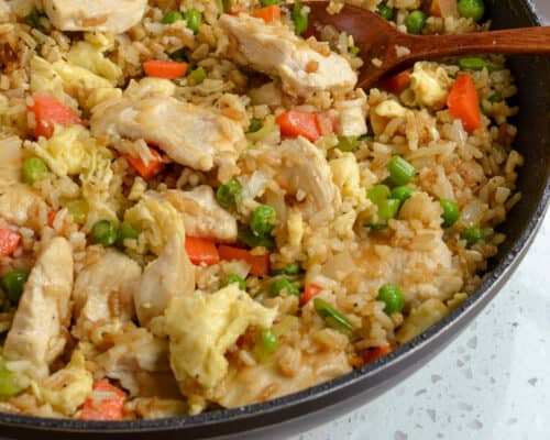 Skillet Chicken Fried Rice