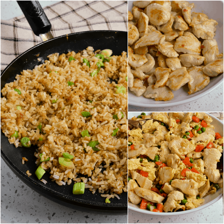 The steps to making Chicken Fried Rice