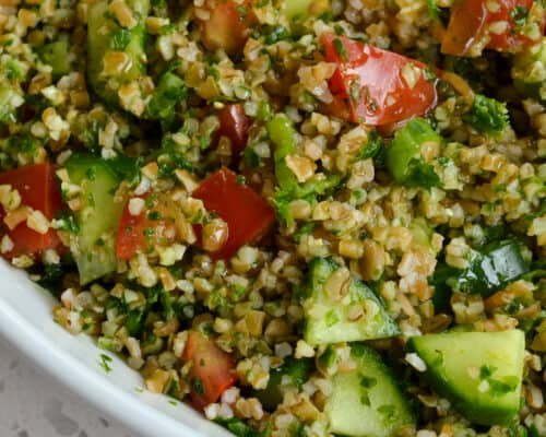 Tabbouleh Salad with fresh herbs
