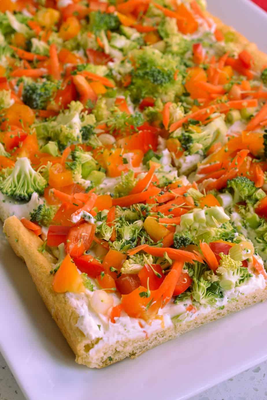Cream Cheese Veggie Pizza