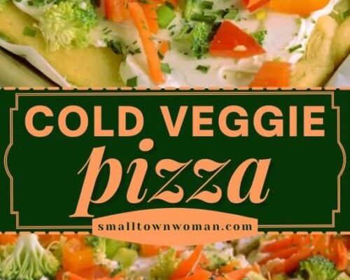 Veggie Pizza with Cream Cheese